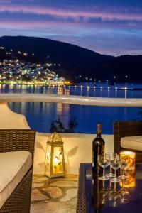 A balcony or terrace at Karavos Apartments and Villa