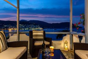 A porch or other outdoor area at Karavos Apartments and Villa