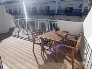 A porch or other outdoor area at Apartamentos La Rosita