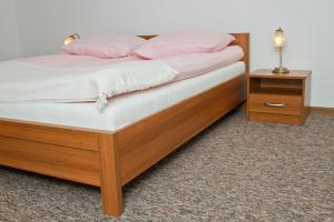 Łóżko lub łóżka w pokoju w obiekcie Willa Bystra