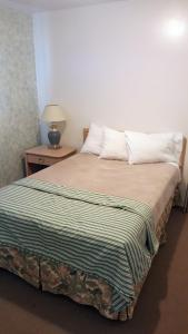 A bed or beds in a room at Badlands Motel