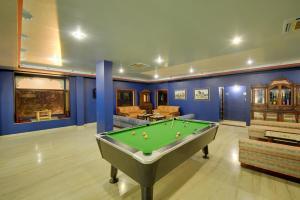 A billiards table at juSTa Lake Nahargarh Palace