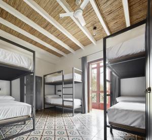 Un ou plusieurs lits superposés dans un hébergement de l'établissement The Boc Palma Hostel - Albergue Juvenil