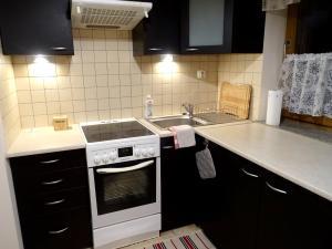 Kuchnia lub aneks kuchenny w obiekcie Globetrotters' Apartment