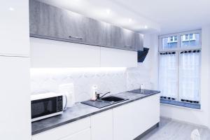 Kuchnia lub aneks kuchenny w obiekcie Apartament na Starówce Ogarna