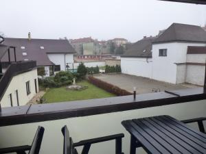 A balcony or terrace at Brandýský Dvůr