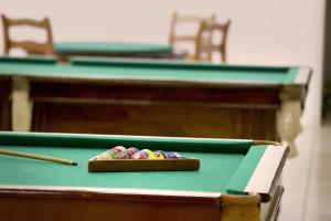 A pool table at City Hotel