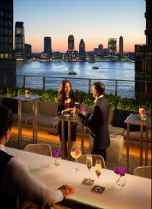 A restaurant or other place to eat at Conrad New York Downtown