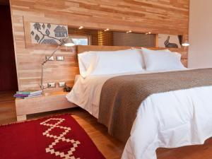 Cama o camas de una habitación en Tierra Patagonia Hotel & Spa