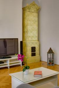 A television and/or entertainment center at Charles Bridge Premium Apartments