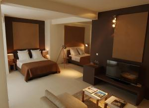 A bed or beds in a room at Casa Branca