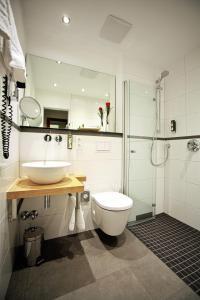 A bathroom at President Hotel