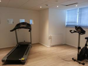 The fitness center and/or fitness facilities at Kyriad Hotel Brest