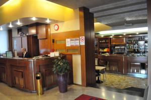 The lobby or reception area at Hotel Igea