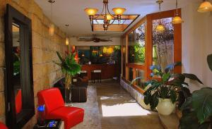 The lobby or reception area at Acacia Boutique Hotel