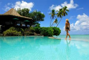 The swimming pool at or near Pacific Resort Aitutaki