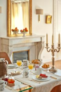 Breakfast options available to guests at My Home For You Luxury B&B