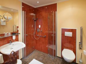 Ванная комната в Hotel Lindenhof