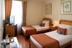 Cama o camas de una habitación en Hotel Presidente