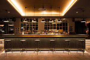 The lounge or bar area at Ruby Marie Hotel Vienna