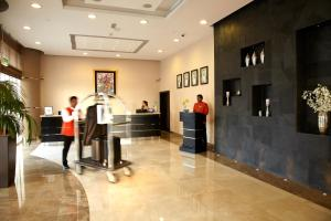 منطقة الاستقبال أو اللوبي في فندق كريستال أبوظبي