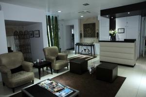 The lobby or reception area at Hotel Katia