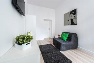 A seating area at Mieszkanie przy deptaku Sopot