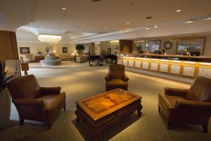 The lobby or reception area at The Fredericton Inn