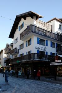Hotel Garni Testa Grigia during the winter