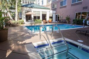 The swimming pool at or near Hilton Garden Inn San Mateo