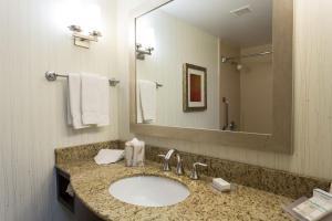 A bathroom at Hilton Garden Inn San Mateo