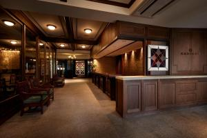 The lobby or reception area at Matsumoto Hotel Kagetsu