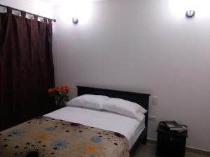 Cama o camas de una habitación en Hotel Calle Santodomingo