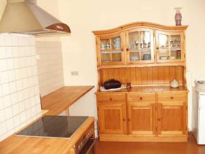 Küche/Küchenzeile in der Unterkunft Ferienwohnung Am Jakobsweg