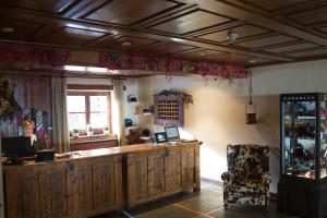 The lobby or reception area at Hotel Chalet Bassibe by Silken