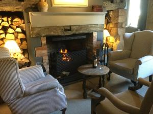 A seating area at The Brownlow Arms Inn