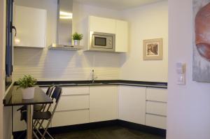 A kitchen or kitchenette at Apartamentos Córdoba Atrium