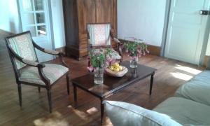 A seating area at La Sauldre