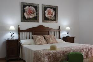 Cama o camas de una habitación en Casa Rural Galatea