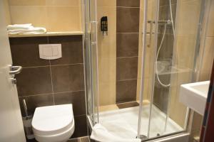 Ein Badezimmer in der Unterkunft Altstadthotel Harburg