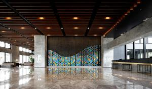 The lobby or reception area at Lakeshore Hotel Suao