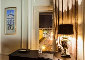 Telewizja i/lub zestaw kina domowego w obiekcie Hotel Bellotto
