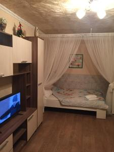 Кровать или кровати в номере Apartment Frunze 23