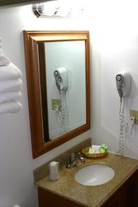 A bathroom at Denali Grizzly Bear Resort