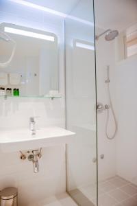 A bathroom at Hotel Old Sarajevo