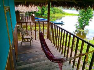 A balcony or terrace at Yaku Amazon Lodge & Expeditions