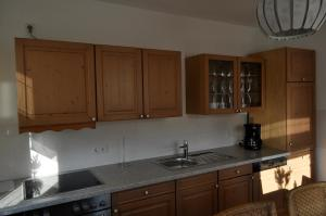 Küche/Küchenzeile in der Unterkunft Apartment Burgblick