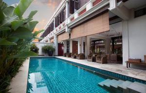 The swimming pool at or near Seven Terraces