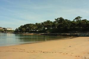 Een strand bij of vlak bij de camping