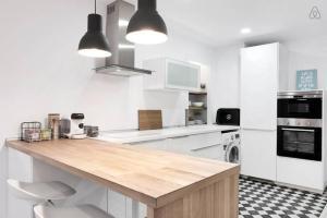 Ett kök eller pentry på Victoria 16